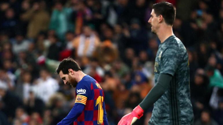 Courtois: Barcelonanın şampiyon ilan edilmesi adil olmaz