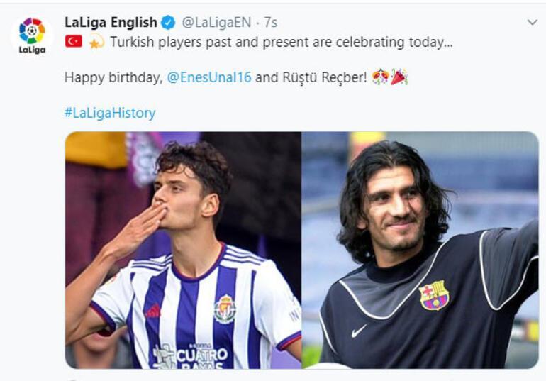 La Ligadan Rüştü Reçber ve Enes Ünala doğum günü kutlaması