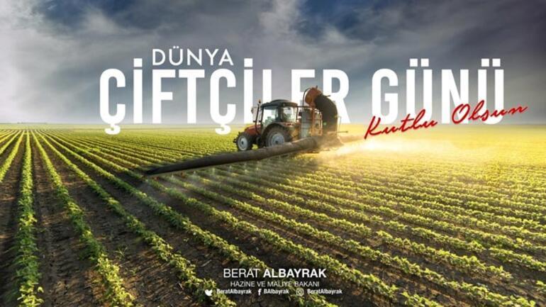 Bakan Albayraktan Dünya Çiftçiler Günü paylaşımı