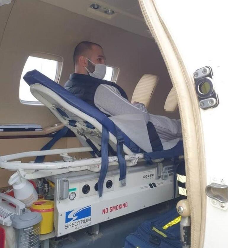 Kanser hastası Türk genci İsveçten ambulans uçakla Türkiyeye geldi
