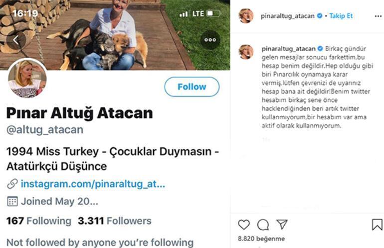 Pınar Altuğ takipçilerini uyardı