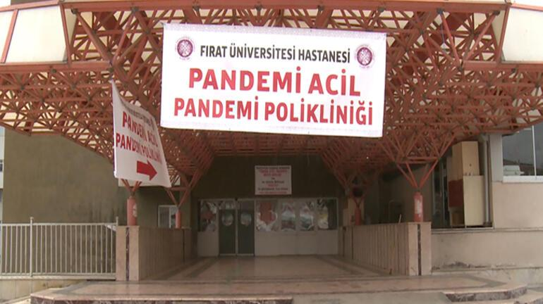 Son dakika haberi I Elazığda pandemi bölümündeki 4 servisten 2si kapatıldı