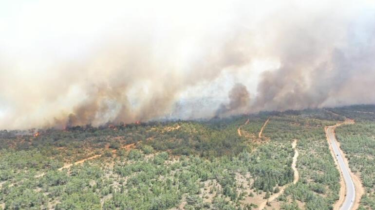 Son dakika I KKTCde korkutan yangın Türkiye harekete geçti