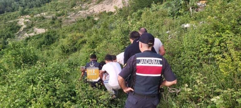 20 kişilik ekip devreye girdi Metrelerce yukarıdan yuvarlandı... Ölüm kalım mücadelesi