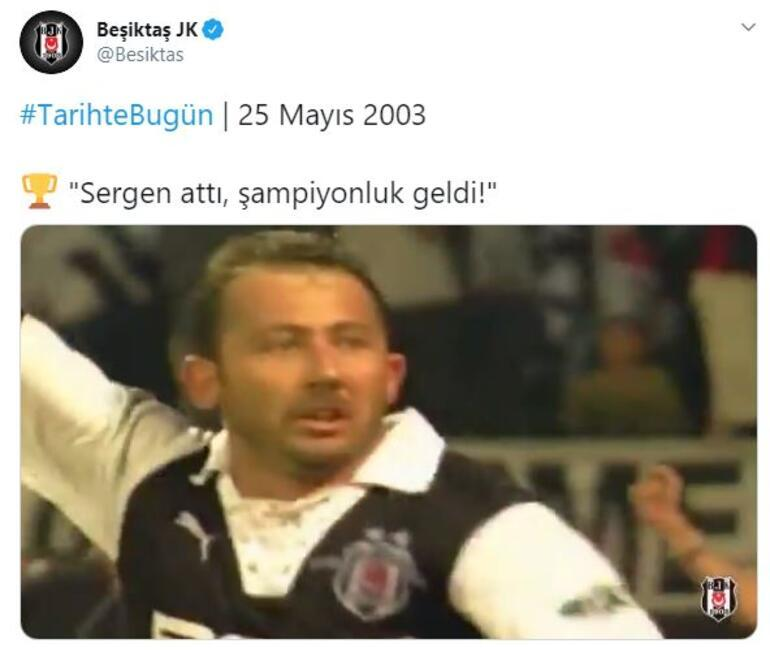 Beşiktaştan Sergen Yalçın ve 100. yıl paylaşımı
