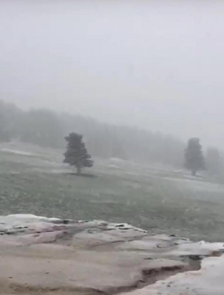 Mayıs ayının son günleri Uludağda kar yağdı