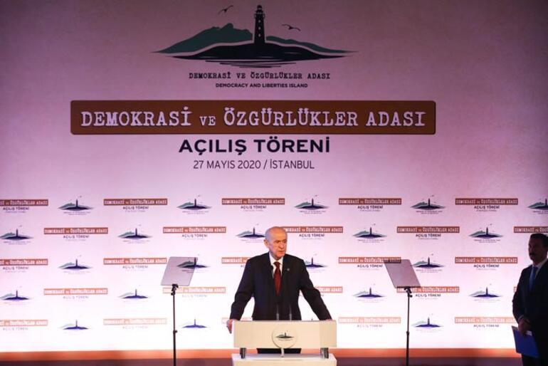 Bahçeli Demokrasi Adası açılışında konuştu: Milletin cesur yüreğini yenemeyecekler