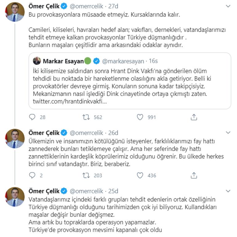Son dakika Dink Vakfı'na tehdit iddiaları hakkında AK Partiden açıklama