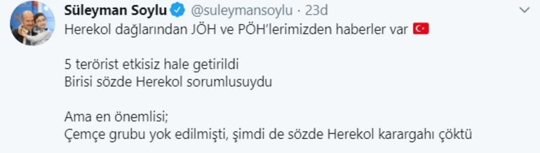 Son dakika İçişleri Bakanı Süleyman Soylu açıkladı Herekol karargahı çöktü