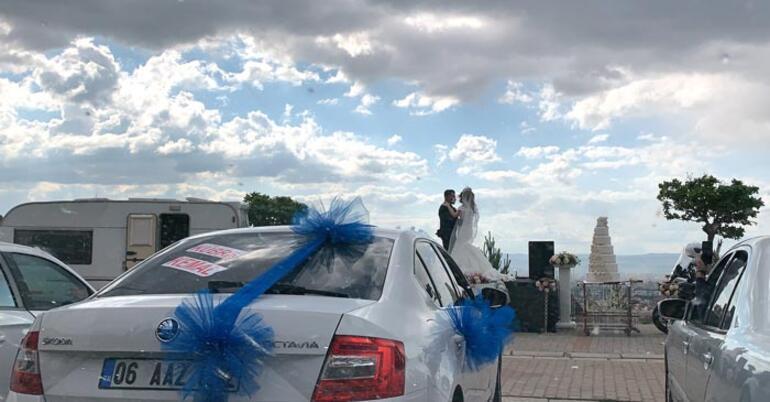 Kayseride arabalı düğün ile dünyaevine girdiler