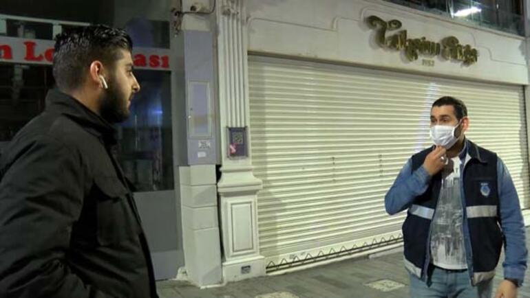 Maske takmayanlar İstiklal Caddesine alınmadı