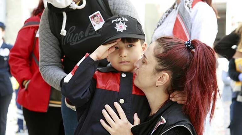 Şehit olan polis memurunun cenazesi baba ocağında