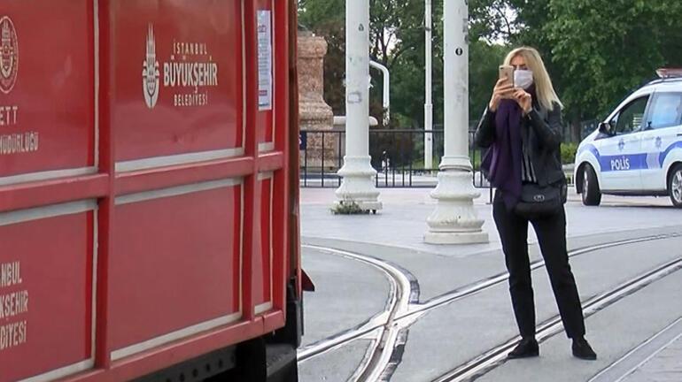 Nostajlik tramvay İstiklal Caddesinde seferlere başladı