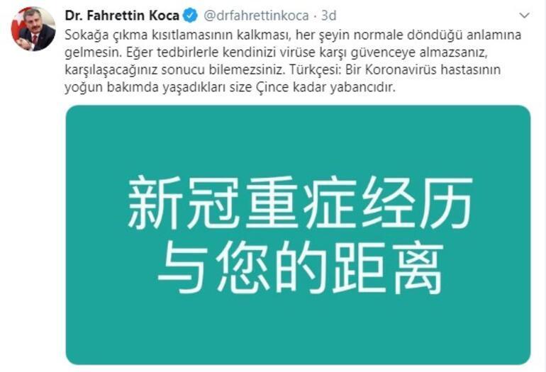 Son dakika... Sağlık Bakanı Koca uyardı Yaşadıkları size Çince kadar yabancı