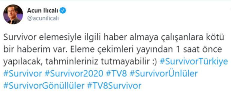 Survivor 2020de kim elendi Acun Ilıcalıdan iddialara yanıt