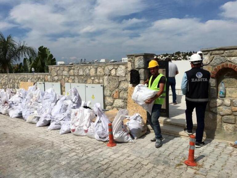 Özdilin villasındaki kaçak eklentilerin yıkım çalışması 5inci gününde