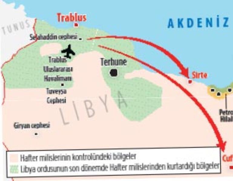 Terhune'yi Libya ordusu ele geçirdi
