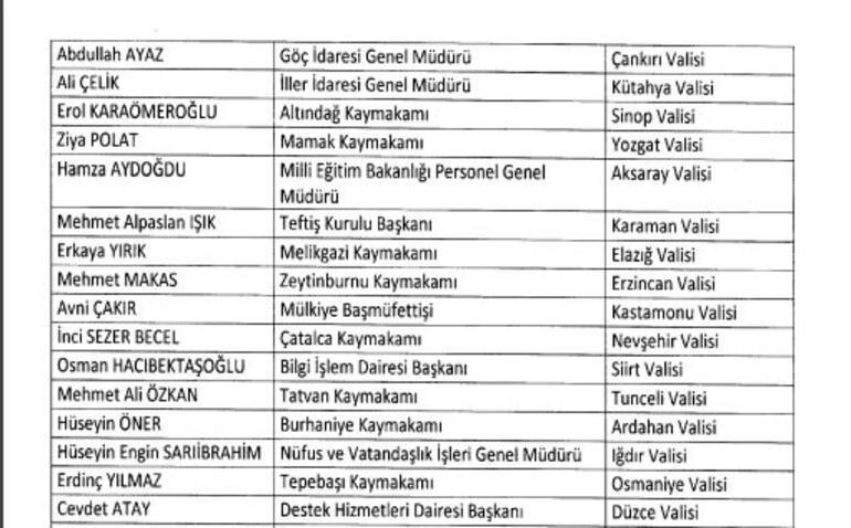 Son dakika haberi: 17 vali merkeze alındı, 41 ile yeni vali atandı