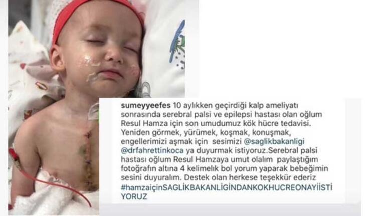 Tek isteği 17 aylık oğlu Resul Hamzanın iyileşmesi