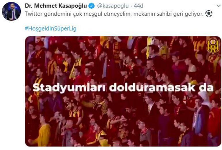 Bakan Kasapoğlu'ndan Süper Lig için paylaşım
