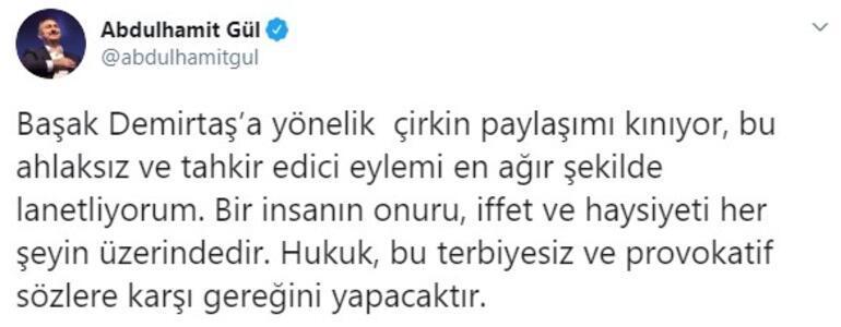 Son dakika haberi: Adalet Bakanı Gül ve AK Partili Bostancıdan Başak Demirtaş paylaşımı