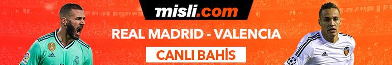 Real Madrid - Valencia maçı Tek Maç ve Canlı Bahis seçenekleriyle Misli.com'da
