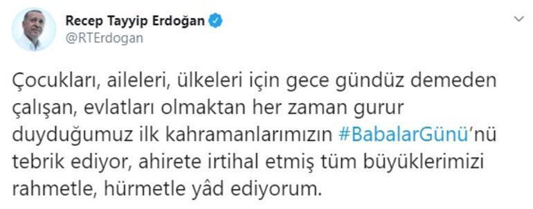 Son dakika... Cumhurbaşkanı Erdoğandan Babalar Günü paylaşımı