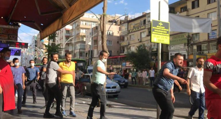 Diyarbakırda iki grup birbirine girdi Çok sayıda kişi gözaltında