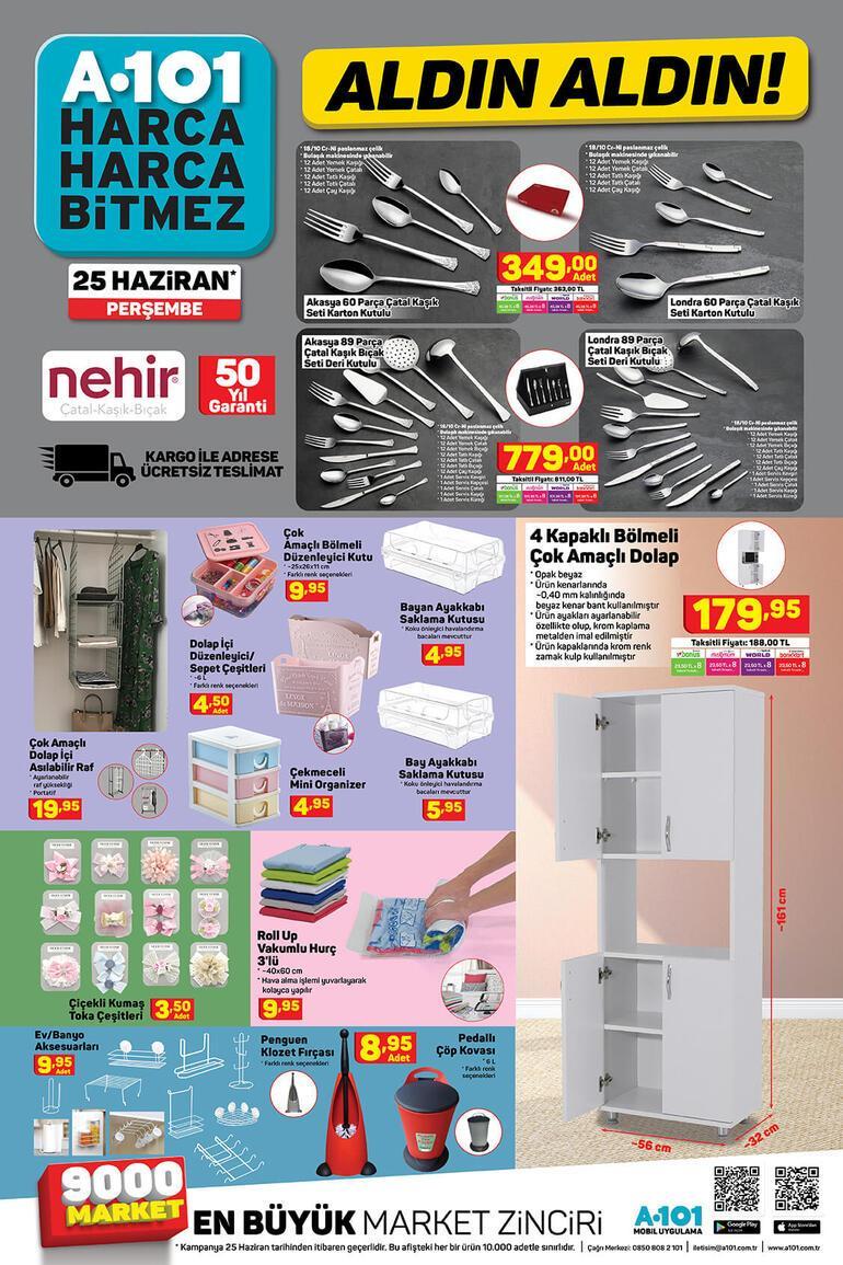 25 Haziran A101 kataloğunda neler var A101 indirimli ürünler kataloğu