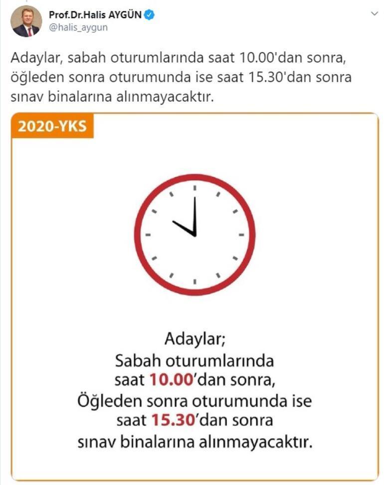 Son dakika... ÖSYM Başkanından YKS adaylarına saat uyarısı