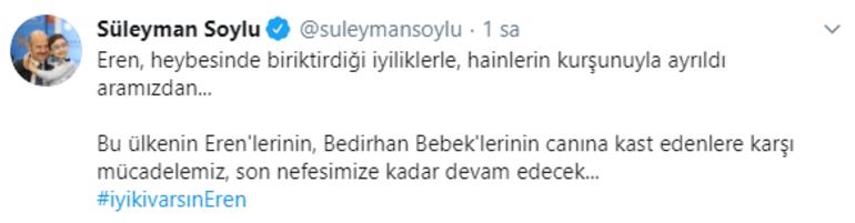Bakan Soyludan Eren Bülbül paylaşımı