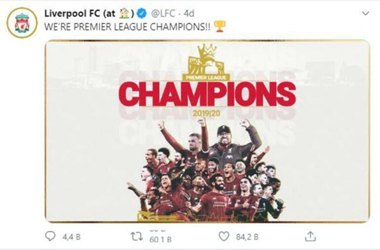Son dakika | Liverpool şampiyonluğunu ilan etti