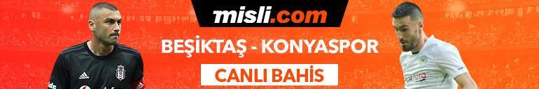 Beşiktaş - Konyaspor maçı Tek Maç ve Canlı Bahis seçenekleriyle Misli.com'da
