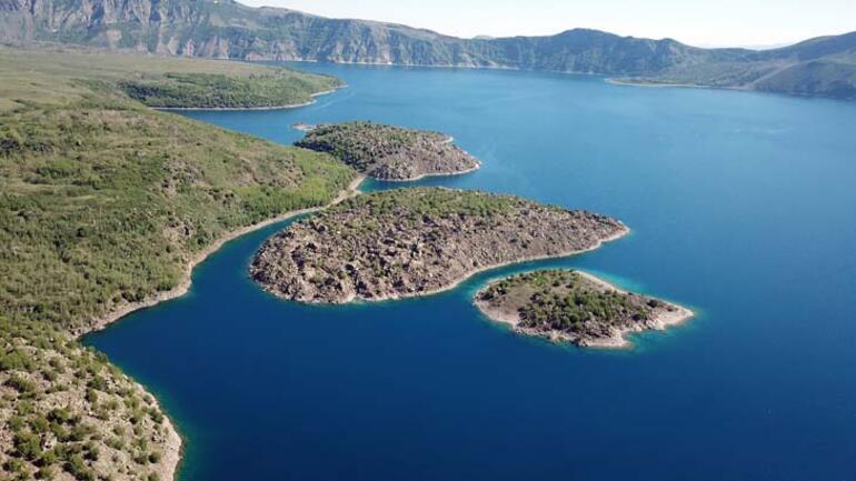 Nemrut Krater Gölüne ziyaretler başladı