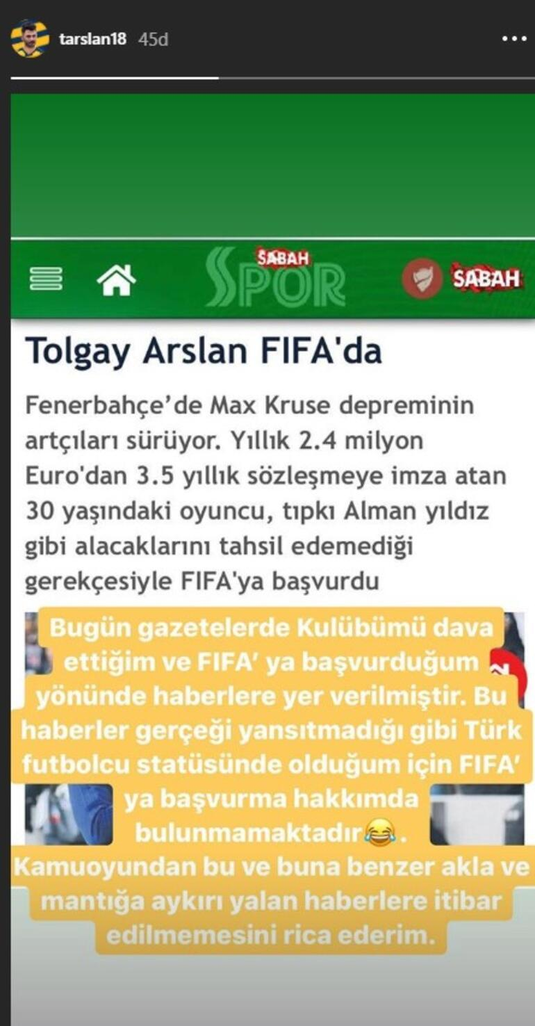 Son dakika haberleri | Fenerbahçede Tolgay Arslan da FIFAya gitti Açıklama geldi...