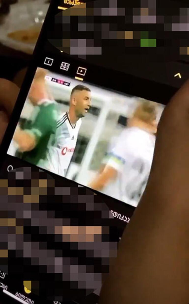 Beşiktaşın gözdesi Nika Ninua, Konyaspor maçını izledi