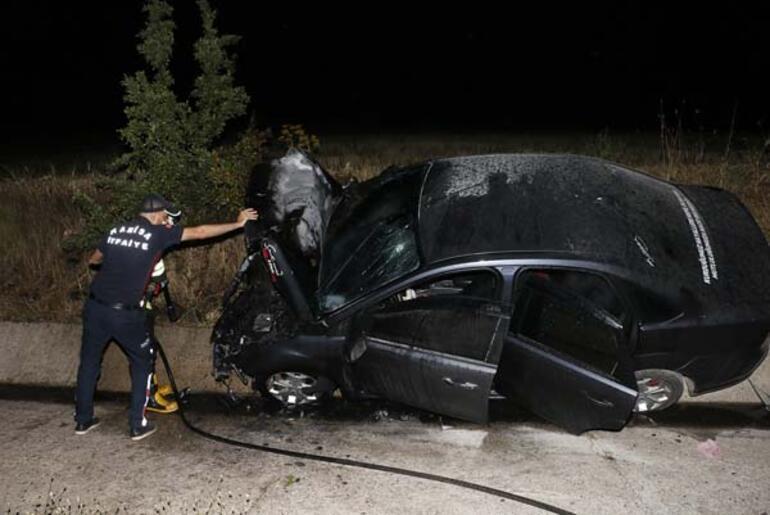 Manisa'da feci kaza 1 ölü 1 ağır yaralı