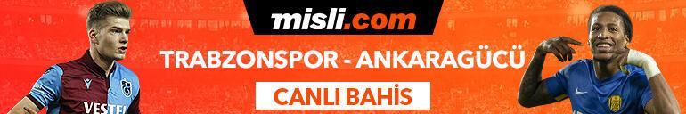 Trabzonspor - Ankaragücü maçı Tek Maç ve Canlı Bahis seçenekleriyle Misli.com'da