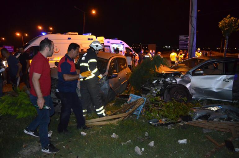 Aşırı hız kaza getirdi: 3 yaralı