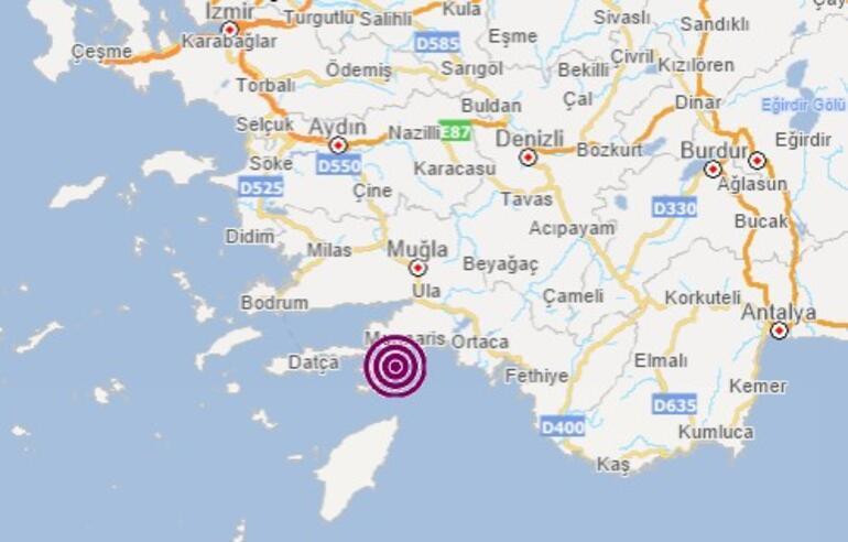 Son dakika: Muğlada bir deprem daha Depremin büyüklüğü...
