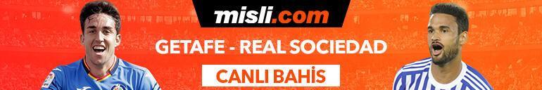 Getafe - Real Sociedad maçı Tek Maç ve Canlı Bahis seçenekleriyle Misli.com'da