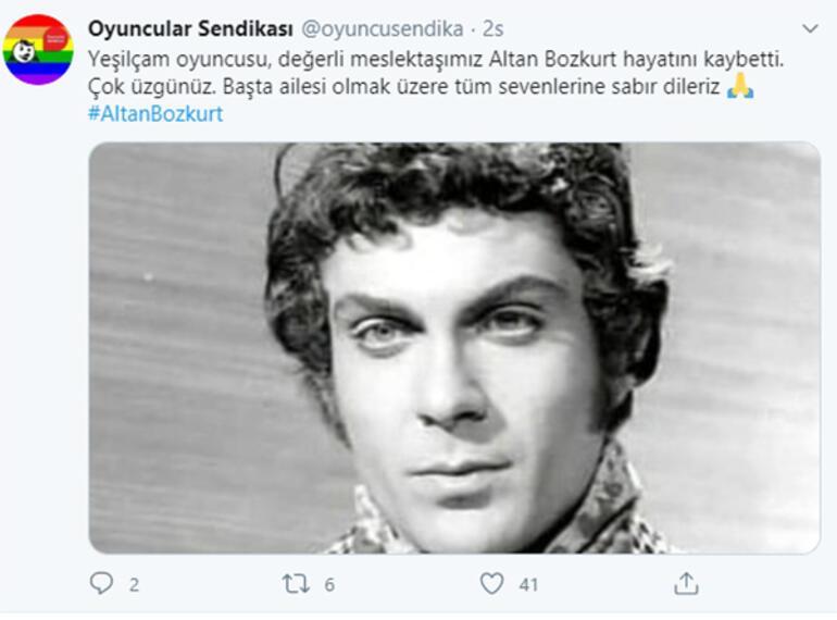 Yeşilçamdan acı haber Altan Bozkurt vefat etti