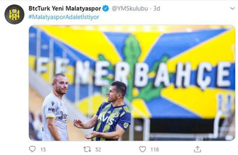 Yeni Malatyaspordan Emre Belözoğlu paylaşımı