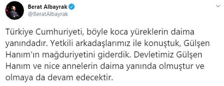 Bakan Albayrak duyurdu: Gülşen Hanımın mağduriyeti giderildi