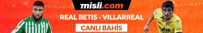 Real Betis - Villareal maçı Tek Maç ve Canlı Bahis seçenekleriyle Misli.com'da