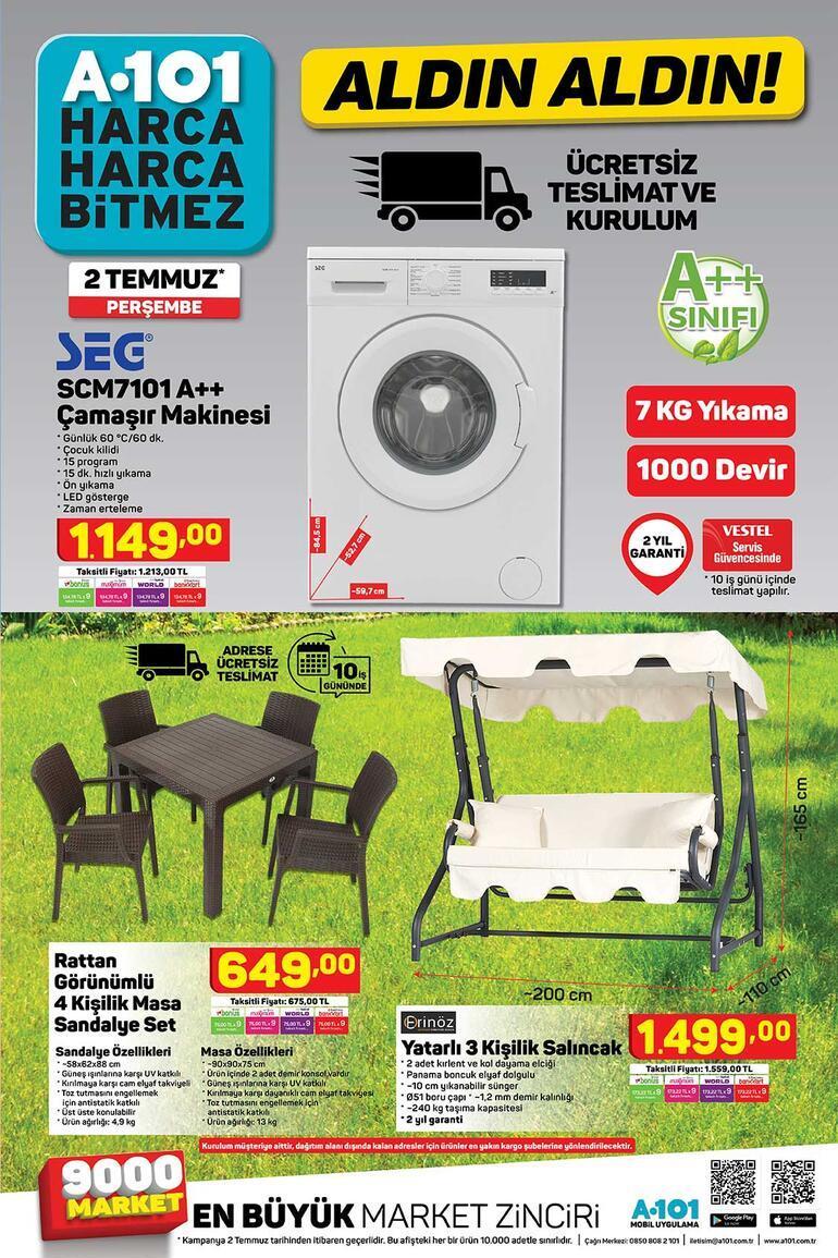 A101 aktüel ürünler kataloğu (2 Temmuz) A101 indirimli ürünler kataloğunda hangi ürünler var