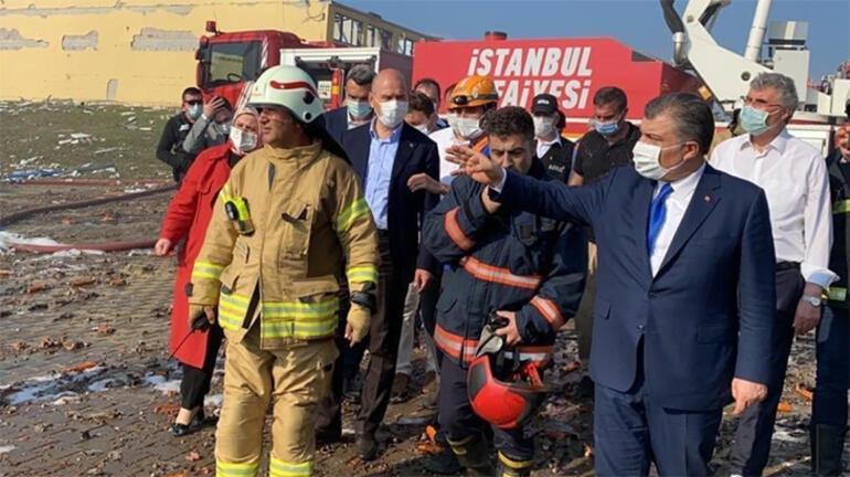 Son dakika haberi... Bakan Koca: Patlama, çevreyi de etkileyen bir hasara yol açtı