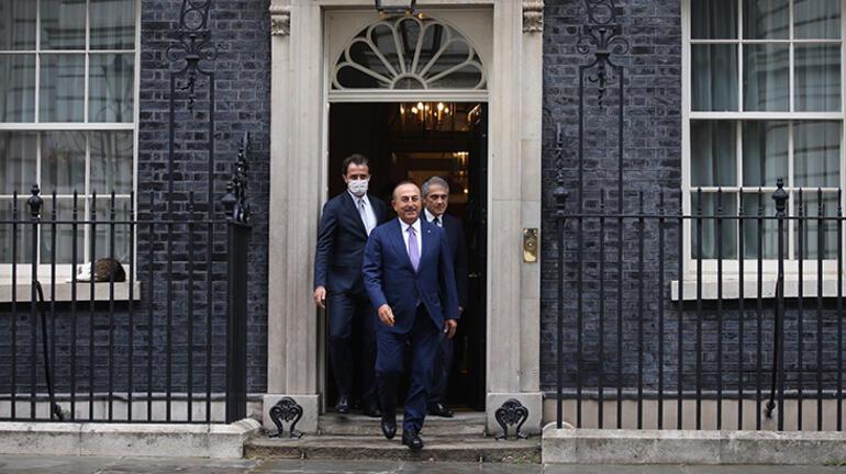 Dışişleri Bakanı Mevlüt Çavuşoğlu, İngiltere Başbakanı Boris Johnson ile görüştü