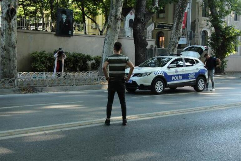 Son dakika: Dolmabahçede şüpheli kadın alarmı