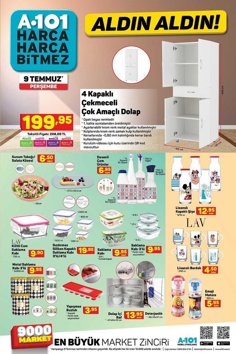 A101de bu hafta hangi indirimli ürünler var A101 9 Temmuz kataloğunda yer alan ürünler satışa sunuldu